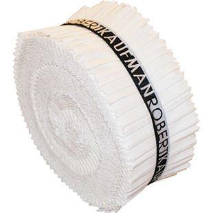 Bild av Robert Kaufman Kona Cotton Solids White Jelly roll