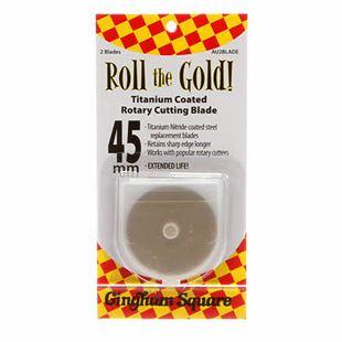 Bild av 45 mm Roll the Gold Titanium Rotary Blades 2-pack rullknivsblad knivblad till rullkniv