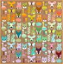 Bild på Delightful Desert a pattern by Elizabeth Hartman
