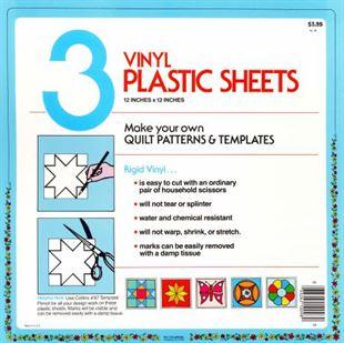 Bild av 3 Vinyl Plastic Sheets Mallplast Template