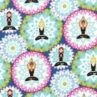 Bild av Yoga Mandala Lotus Namaste by Michael Miller Collection