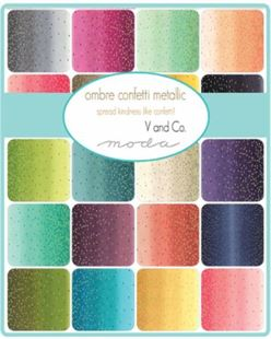 Bild av V and Co. Vanessa Christenson Ombre Confetti Metallic Jellyroll