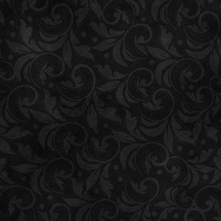 Bild av Black Vintage Scroll 108in Wide Back