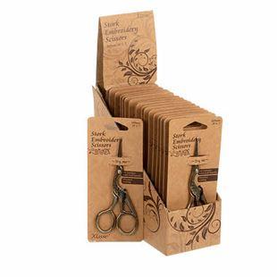 """Bild av Broderisax 4,5"""" Stork Scissors With Vintage Gold Finish"""