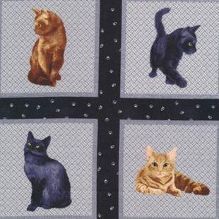 Bild av Blue Cat Squares panel