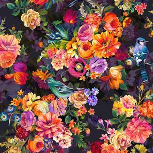 Bild av Arcadia Secret Garden-Onyx Digiprint Fabric