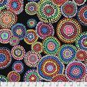 Bild på Kaffe Fassett Mosaic Circles PWGP176.Black