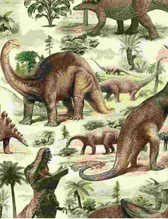 Bild av All Over Dinosaurs DINO-C7816  MULTI