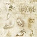 Bild på Antique Leonardo Da Vinci Toile