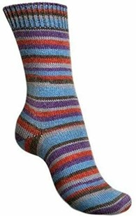 Bild av Regia Sock yarn, sockgarn, Design Kaffe Fassett 4ply 100g 3862 Blue Velvet
