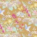 Bild på Gardenlife Tilda fabrics Bird floral Mustard 100302