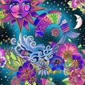 Bild på Celestial Magic by Laurel Burch Collection Multi Toile w/Metallic Y3160-55M